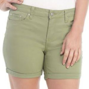 New direction Olive green 5 pocket shorts